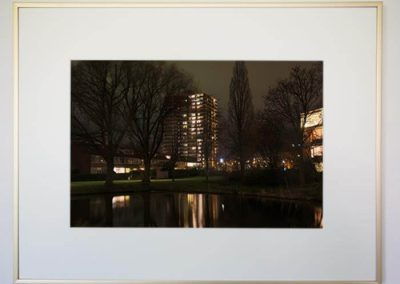 Adrey Caljé - Leidschendam-Voorburg bij nacht - Populierendreef