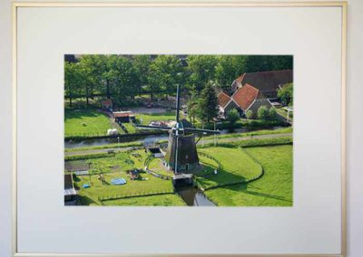 Adrey Caljé - Leidschendam-Voorburg in Vogelvlucht -Molen De Vlieger