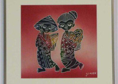 Inlijstwerk Batik 2514