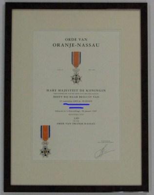 Orde v Oranje-Nassau 2523